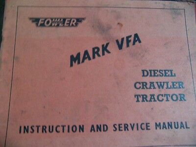 Fowler Marshall VFA Tractor manual Instruction Book