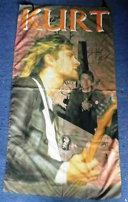 Kurt Cobain. Very large colourful fabric Banner/ Poster.78 x148cm. Reduced!