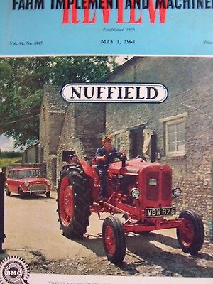 Nuffield tractor Farm Implement and Machinery Magazine brochure