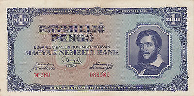 1000 000 Pengo From Hungary 1946!vf Crispy Note!pick-122!!