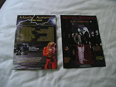 MOSTLY AUTUMN - 2 different Lovely colour tour flyers (Mint)