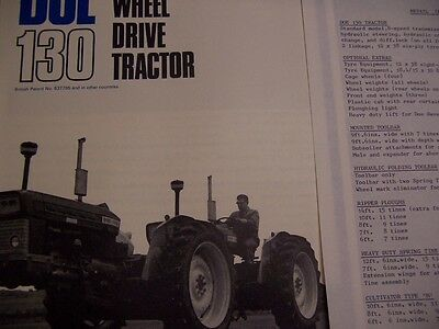 Doe 130 Ford tractor brochure and price list