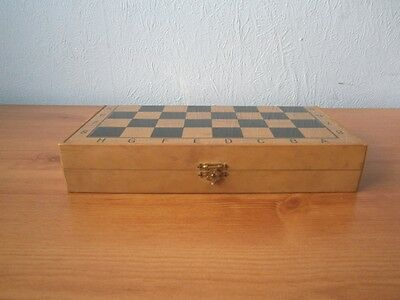 Vintage Magnetic Chess Set In Box