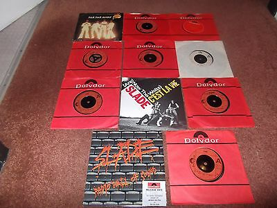"Slade   A Job Lot Of 11 X 7"" Singles.all Ex.includes 1 Promo."