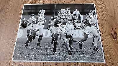 Great Britain v France 1986 Original Women's Rugby Press Photograph