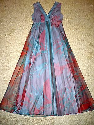 Ladies Vintage Retro Feminette Dress 1970s Cocktail Maxi Dress Medium 12