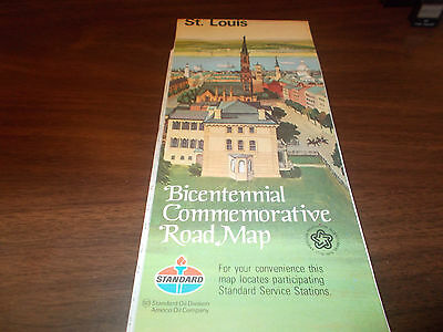 1976 Standard Oil St. Louis Bicentennial Commemorative Vintage Road Map