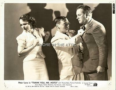 Peter Lorre And Friends Thank You Mr Moto Not Charlie Chan Orig Fox Still #8