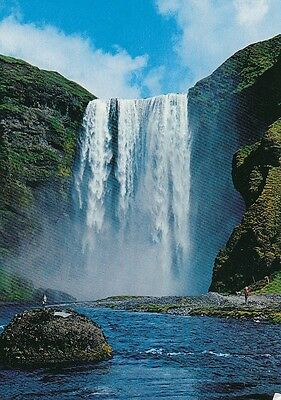 Island: High Waterfall Skógafosss, located in South Iceland gl1992 E4067