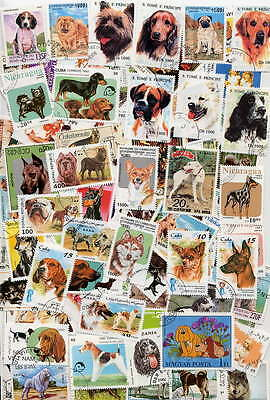 200 Dog Postage Stamps - All Different - No Duplicates!