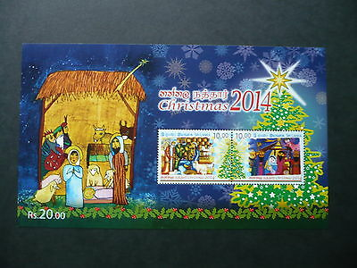 Mnh Sri Lanka 2014 Christmas  Mini-Sheet V.f.never Hinged Sg Ms 2285