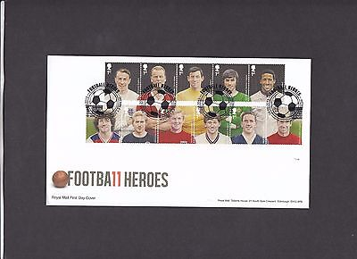 2013 Football Heroes Royal Mail First Day Cover special handstamp