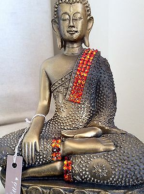 Divine Large Beautifully Detailed Buddhas Statue. Adorned In Swarovski Elements