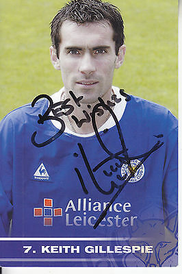 Keith Gillespie Signed Picture