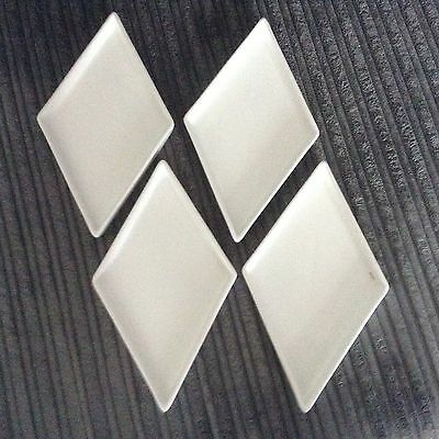 Brand New And Boxed ( 4 X White Diamond Shaped Plates ) For Service / Decoration