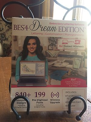 BES4 Dream Edition Embroidery Lettering Software Full Version w wireless upgrade