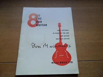 8 to the bar Guitar IVOR MAIRANTS Jazz Patterns for guitar and bass guitar 1962