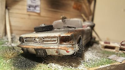Ford Mustang Barn Find Diorama Model Gift Classic Car Diecast 1/43 Code 3 Art