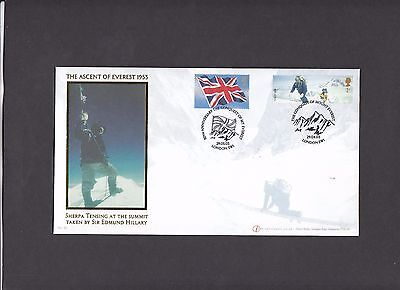 2003 Extreme Endeavours Internet Stamps FDC Conquest of Mount Everest