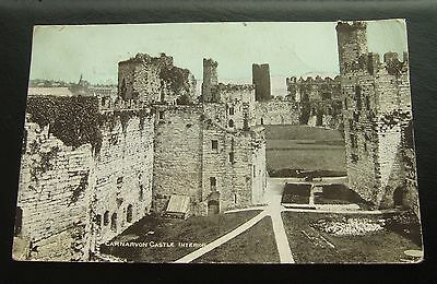 Postcard : Caernarvon Castle Interior, Wales : Early Card Posted 1904