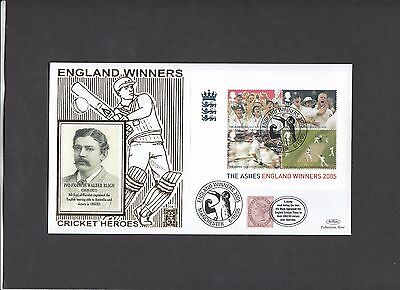 2005 The Ashes Min Sheet Benham Gold 500 Series Official FDC