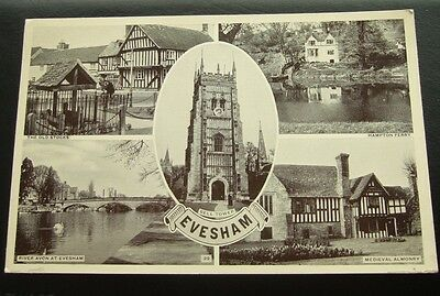 Postcard : Real Photo, Evesham, Multi-View , Worcestershire, Unposted