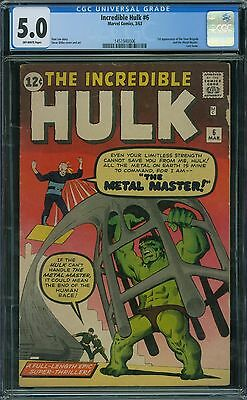 Incredible Hulk 6 CGC 5.0 - Off-White Pages