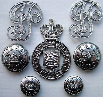 Obsolete States of Jersey Police Cap Badge, Epaulette Badges & Buttons.
