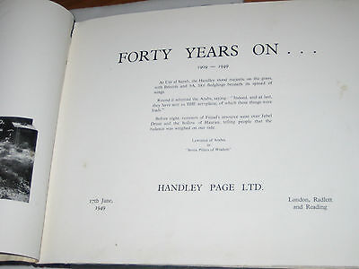 1909-1949 HANDLEY PAGE Aircraft History Book IMPERIAL AIRWAYS RAF