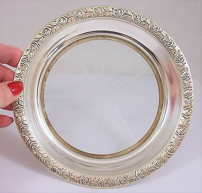 Vintage Sterling Silver And Crystal Coaster, James Avery, Craftsman, Inc.