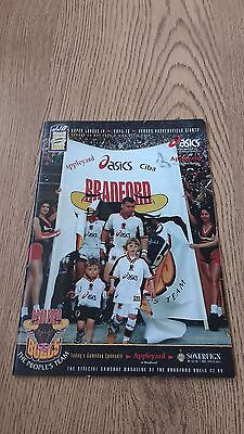 Bradford Bulls v Huddersfield Giants 1999 Rugby League Programme