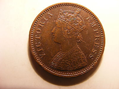 India-princely States Dhar 1/2 Pice, 1887, Coin has some Original Luster