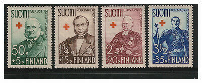 Suomi Finland 1938 Red Cross Fund Set Of 4  Mint Never Hinged Mnh