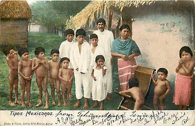 Mexico, Tipos Mexicanos, Family by House, Stamp, UDB, Blake & Fiske No 8