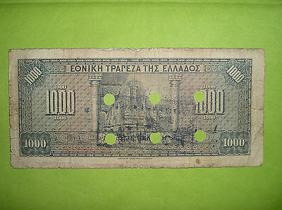 Greece, 1000 drachmai 1926, Cancelled & Perforated ''ΕΝ ?''