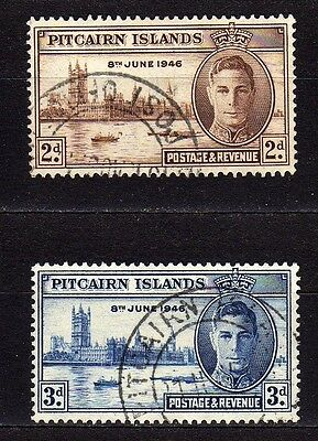 Pitcairn Islands #9-10 Used 1946 Peace Issue