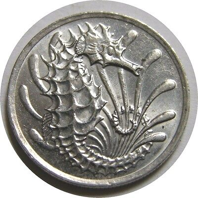 elf Singapore 10 Cents 1982  Sea Horse