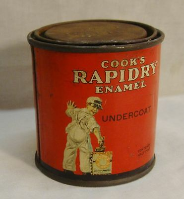 Antique Advertising Tin Cook Paint & Varnish Co Paint Can