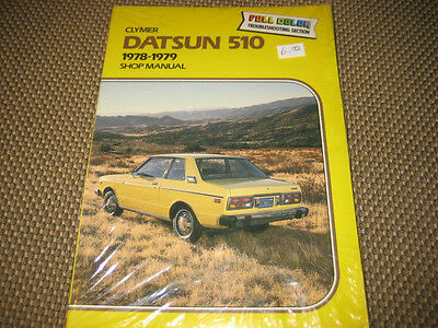Datsun 510 1978-1979 Shop Manual Clymer Full Color Troubleshooting Section New.