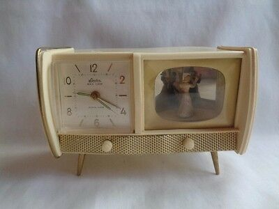 Golbuhl Germany 50's Television Console alarm clock/music box-SO CUTE
