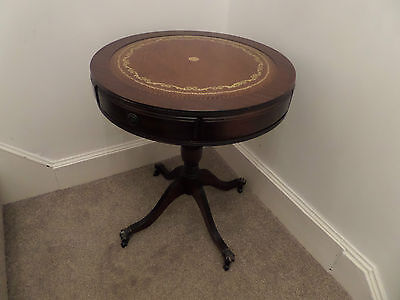 Antique Reproduction Drum Table / Side Table / Coffee Table