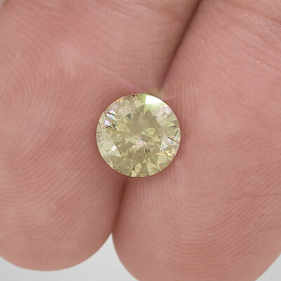 1.31 Carat Fancy Champagne Color I1 Clarity Round Enhanced Loose Diamond #D2057