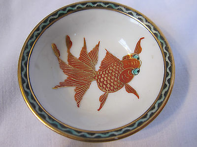 Chinese porcelain handpainted fish small finger / sauce bowl. Vintage / antique?