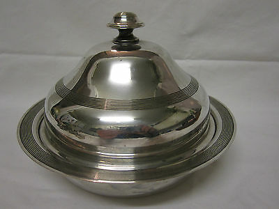 Antique JAMES DEAKIN & SONS muffin warmer dish silver plated EPNS