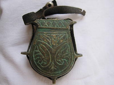 Antique brass or bronze Pilgrim flask? old container collectable