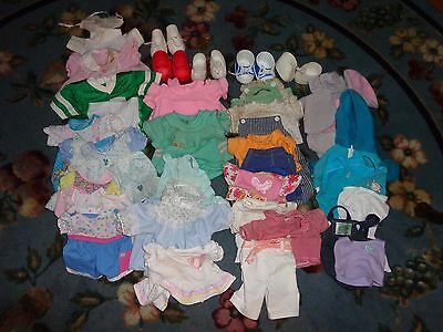 Vintage Cabbage Patch Doll Clothes Shoes Pacifier 48 Items Different Sizes