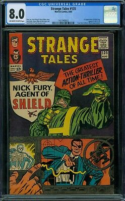 Strange Tales 135 CGC 8.0 - OW/W Pages