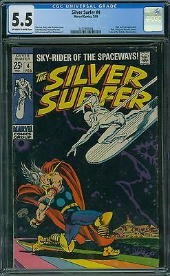 Silver Surfer 4 CGC 5.5 - OW/W Pages