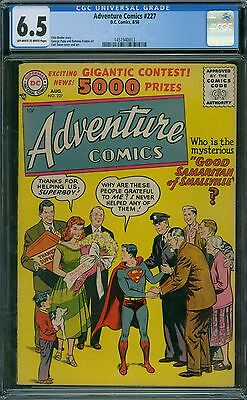 Adventure Comics 227 CGC 6.5 - OW/W Pages