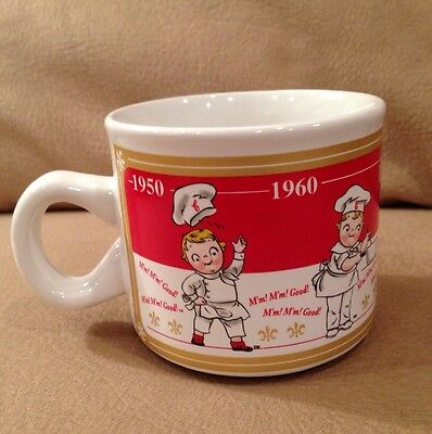 Campbell's Soup Porcelain Mug Campbell's Soup Through the Years 1950-1990